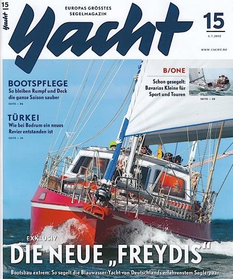 Die neue Freydis (Cover YACHT 15/12)