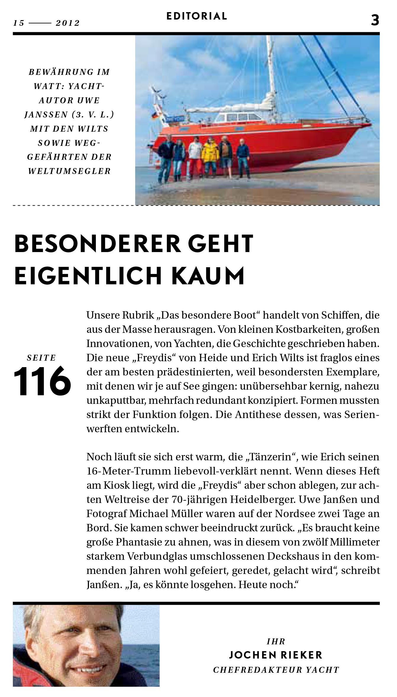 Editorial (YACHT 15/12)