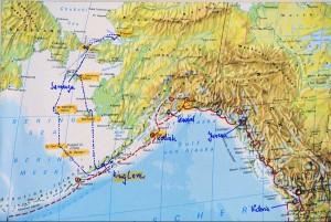 Kurs der Freydis durchs Beringmeer 2007