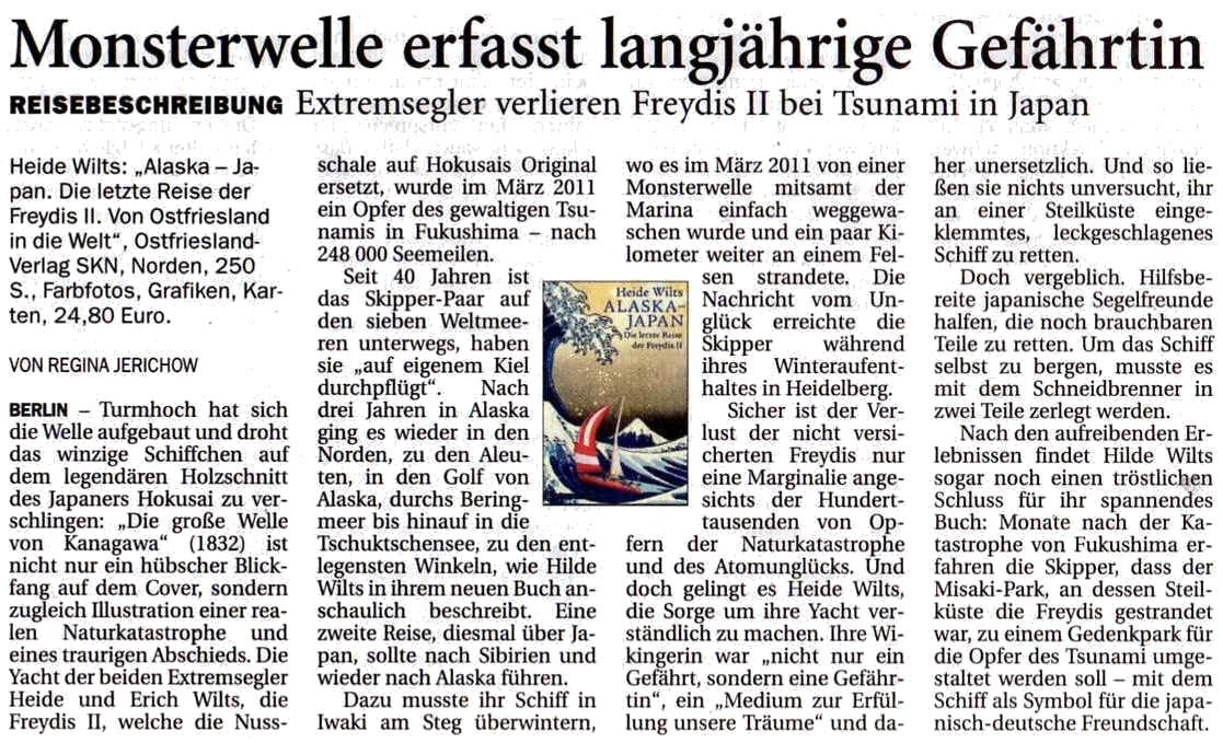 Nord-West-Zeitung, Dienstag, 22.10.2013