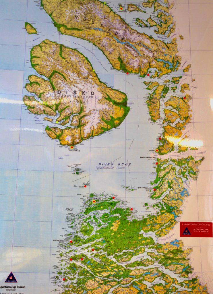 Karte Disko Bucht